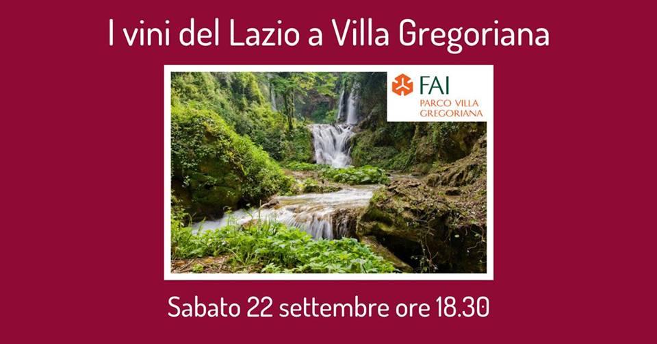 Tivoli (Rm), 22 settembre – I vini del Lazio a Villa Gregoriana