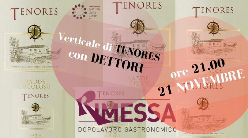 Roma, 21 novembre – Verticale di Tenores con Alessandro Dettori
