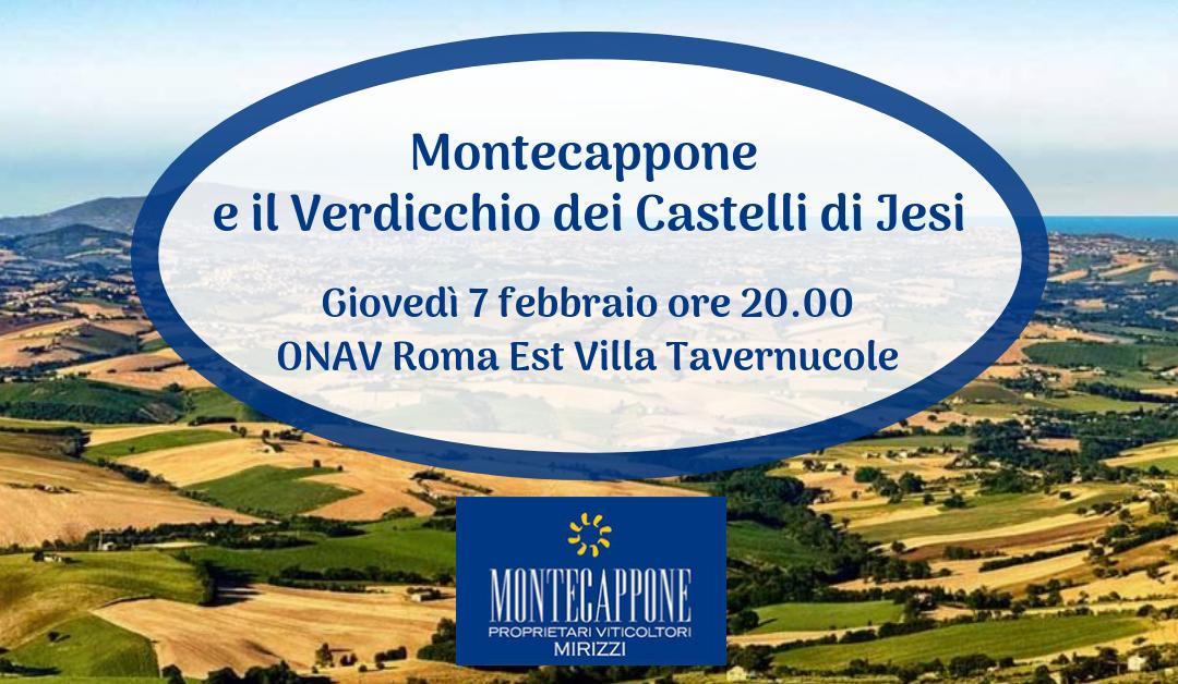 Roma, 7 febbraio – Montecappone e il Verdicchio dei Castelli di Jesi