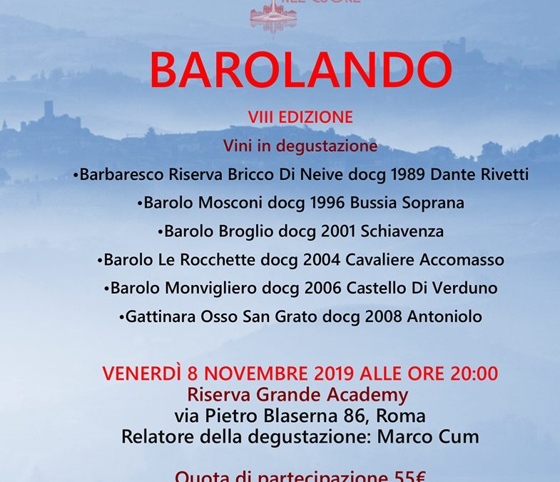 Roma, 8 novembre – Barolando