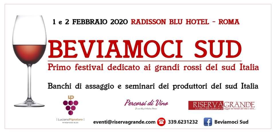 Roma, 1 e 2 febbraio – Beviamoci Sud