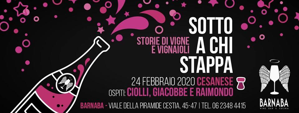 Roma, 24 febbraio – Sotto a chi stappa: il Cesanese