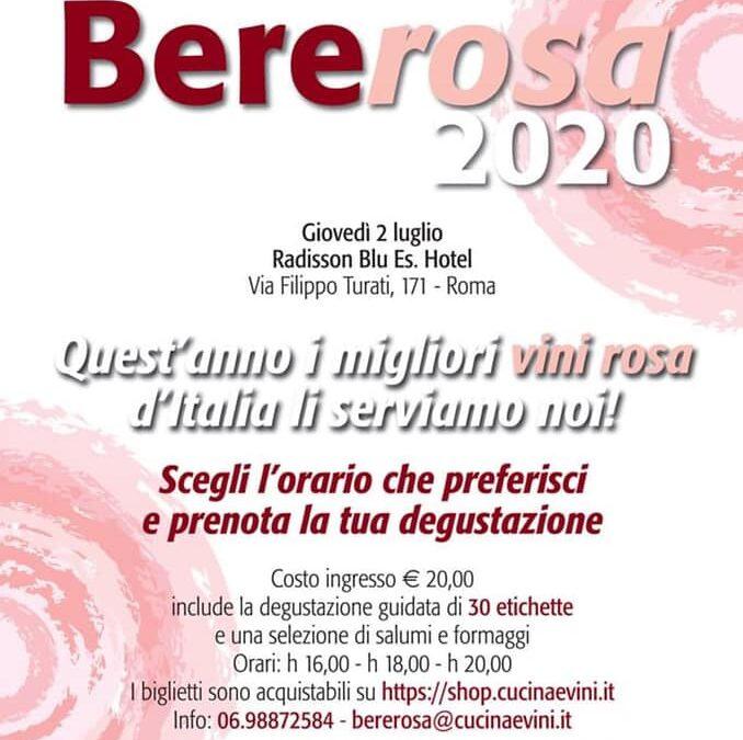 Roma, 2 luglio – Bererosa2020