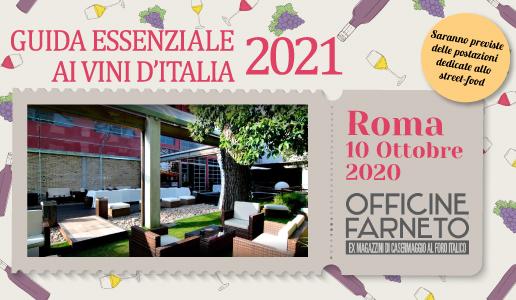 Roma, 10 ottobre – Presentazione Guida Essenziale ai Vini d'Italia 2021